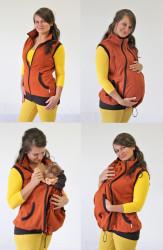 SILNÁ POČESANÁ TEPLÁKOVINA 100% BAVLNA - těhotenská, nosící normal VESTA