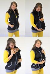 TEPLÁKOVINA 100%Ba - těhotenská, nosící, normal VESTA - VV75TN