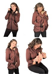 TEPLÁKOVINA 100% BAVLNA - 3v1 mikina s kapucí, jednobarevná: Kojící, Nosící, Normal