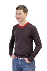 LETNÍ MERINO - Tričko, dlouhý rukáv, výstřih V - MPLT372