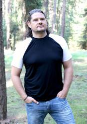 BAMBUSOVÉ - Pánské tričko, krátké raglanové rukávy, výstřih U - PTRUB172