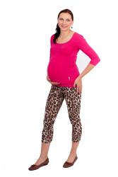 Těhotenské 3/4 legíny - LEOPARD - LET2LTP80