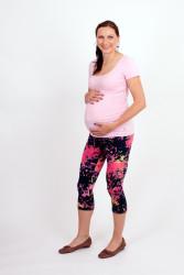Těhotenské 3/4 legíny - NEON CÁKANCE - NEOT2LTP80