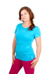 LETNÍ MERINO - 3v1 Kojíci tričko,U-výstřih 3cm, kr. ruk. - KI1LMR770