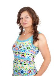 BAVLNA -RŮZNÉ VZORY- 3v1 Kojící šaty s KRAJKOU na ramínka