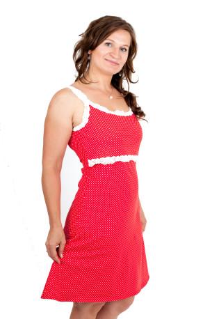 BAVLNA -PUNTÍK- 3v1 Kojící šaty s KRAJKOU na ramínka