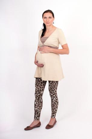 BAVLNA- 3v1 Těhotenská tunika se VSADKOU do V a záhyby v PD, kr. ruk. - TTI1VSBS80