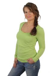 BAMBUS - 3v1 Kojící tričko výstřih 10cm do U, dl. ruk. - 10KI3USBS70