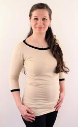 LETNÍ MERINO - 3v1 Kojící tričko výstřih 7cm U, 3/4 kr. ruk. - 7KI2SLMS70