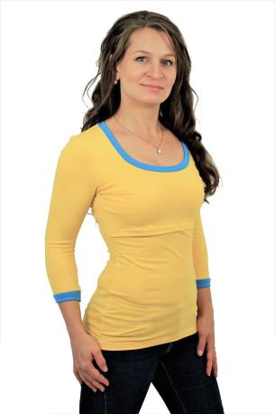 LETNÍ MERINO - 3v1 Kojící tričko výstřih 10cm U, 3/4 kr. ruk. - 10KI2SLMS70