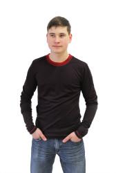 ZIMNÍ MERINO - Tričko, dlouhý rukáv - BEZ VZORU - pánské - výstřih U - MPLTBEZ372