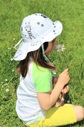 ROSTOUCÍ klobouček PAMPALÍNI, 100%Bavlna- KOČIČKY