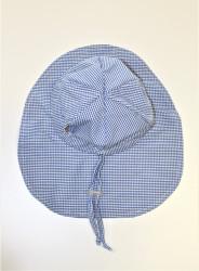 ROSTOUCÍ klobouček PAMPALÍNI, 100%Bavlna - KOSTIČKA modro bílá