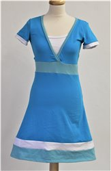 BAUMWOLLE - 3in1 Stillen LILA Kleid, V-Ausschnitt, A Rock, kr. ruk.