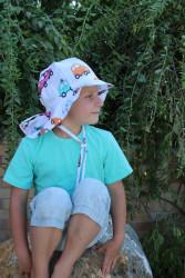 ROSTOUCÍ klobouček PAMPALÍNI, 100%Bavlna - AUTÍČKA