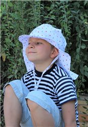 ROSTOUCÍ klobouček PAMPALÍNI, 100%Bavlna - NÁMOŘNÍ,kotvy, hvězdy