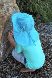 ROSTOUCÍ klobouček PAMPALÍNI, 100%Bavlna - HVĚZDIČKY na tyrkysu