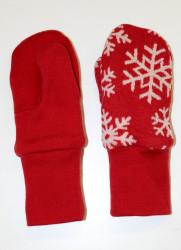 Dvojité oboustranné palčáky vzor vločky na barevném podkladu - MERDPAL