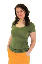 LETNÍ MERINO - 3v1 Kojíci tričko,U-výstřih 10cm, kr. ruk. - KI1LMR1070