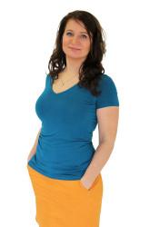 BAMBUS - 3v1 Kojící tričko, výstřih V 10cm, kr. ruk. - KI1BS70