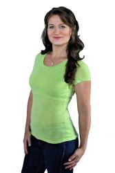 BAMBUS - 3v1 Kojící tričko, výstřih U 3cm, kr. ruk.,jednobarevné - KI1BS70