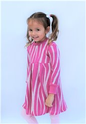 Rostoucí merino šaty se záhyby jednobarevné nebo se vzorem