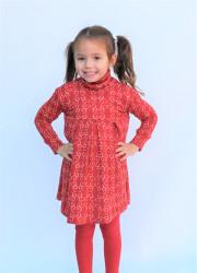 Rostoucí merino šaty s rolákem a záhyby, jednobarevné