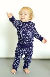 Rostoucí merino kalhoty/kamaše - ŠÍPY na barevném podkladu - MERGAK