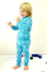 Rostoucí merino kalhoty/kamaše - VLOČKY na barevném podkladu- MERGAK