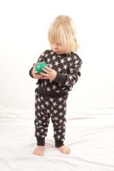 Rostoucí merino kalhoty/kamaše - HVĚZDY na barevném podkladu- MERGAK