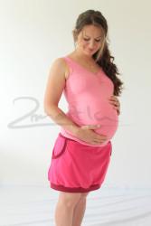 Těhotenské tílko v PD řasené - BAVLNA - TTLBDPD60