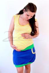 BAVLNA - Těhotenská sukně efekt BALONEK - TSBL42