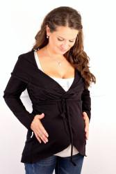 BAVLNA - Těhotenský kabátek - vzdušný - TKAB3TP80