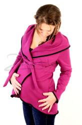 BAVLNA - Těhotenský teplý kabátek - TKAB3SV80