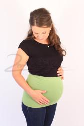 BAVLNA - Těhotenský bederní pás, DVOJITÝ, jednobarevný - TPATP30