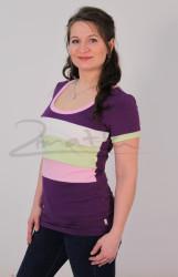 BAVLNA - Kojící tričko BAREVNÉ, kr. ruk. - KI1R-402,100,280,282-70