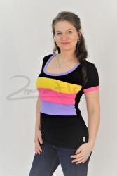BAVLNA - Kojící tričko BArevné, kr. ruk. - KI1R-1,452,386,531-70