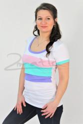 BAVLNA - Kojící tričko BAREVNÉ, kr. ruk. - KI1R-2,282,595,531-70