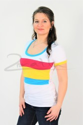 BAVLNA - Kojící tričko BAREVNÉ, kr. ruk. - KI1R-2,567,542,406-70