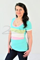 BAVLNA - Kojící tričko BAREVNÉ, kr. ruk. - KI1R-595,280,100,282-70