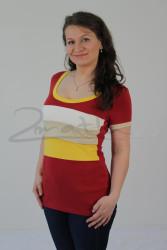 BAVLNA - Kojící tričko BAREVNÉ, kr. ruk. - KI1R-142,100,579,452-70