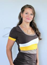 BAVLNA - Kojící tričko BAREVNÉ, kr. ruk. - KI1S-249,100,452,573-70