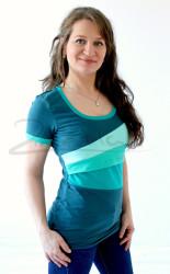 BAVLNA - Kojící tričko BAREVNÉ, kr. ruk. - KI1S-472,595,558,473-70