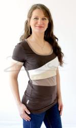 BAVLNA - Kojící tričko BAREVNÉ, kr. ruk. - KI1S-249,100,579,573-70