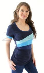 BAVLNA - Kojící tričko BAREVNÉ, kr. ruk. - KI1S-507,627,406,423-70