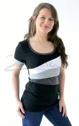 BAVLNA - Kojící tričko BAREVNÉ, kr. ruk. - KI1S-1,2,342,72-70