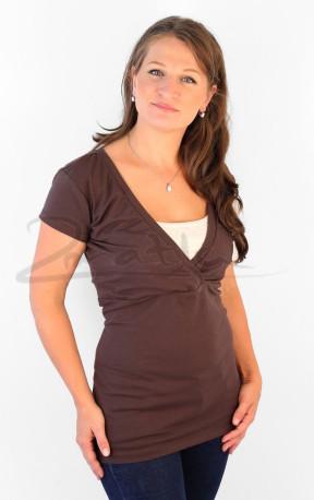 BAMBUS - Kojící tričko s V, kr. ruk. - KI1VBS70