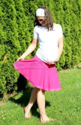 TĚHOTENSKÁ kolová sukně s KRAJKOU - TSKOLLK44