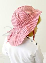 ROSTOUCÍ klobouček PAMPALÍNY, 100%Bavlna - KOSTIČKA červeno bílá