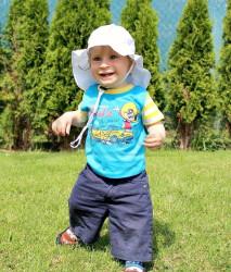ROSTOUCÍ klobouček PAMPALÍNY, 100%Bavlna - BÍLÁ
